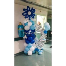 Flower with name baby Boy Balloons