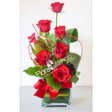 Red Dress Roses