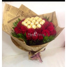 Stunning Red Roses Bunch