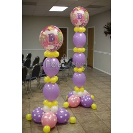 Two Purple Columns baby Girl Balloons