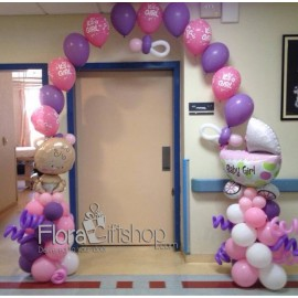 Newborn Girl Stroller Balloons