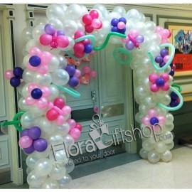 Snow Balls Arch Balloons