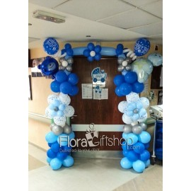 Blue Teady Bears Arch Balloons