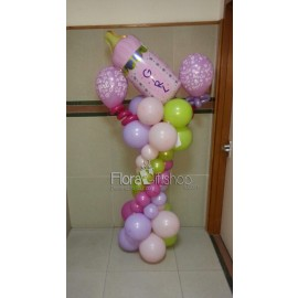baby Girl Feeder Balloons