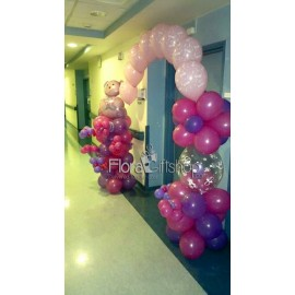 Pink & Purple Teddy Bear Balloons