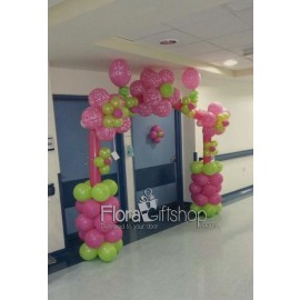 Pink & Green Arch Balloons