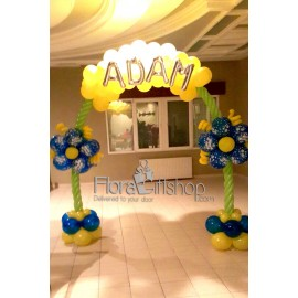 Yellow and Green Baby Arch Balloons