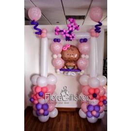 Big Baby Girl Swing Balloons