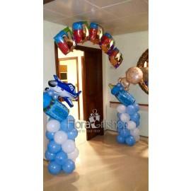 Blue Plane Arch Balloons