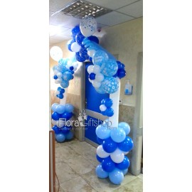 Blue & White Arch Balloons