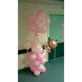 Pink Baby Feeder Balloons