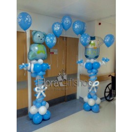 Lovely Blue Arch Balloons