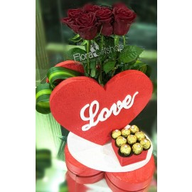 Red Heart Flowers