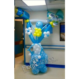 Smiling Blue Man Balloons 1