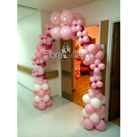 Pink Bubbles Arch Balloons