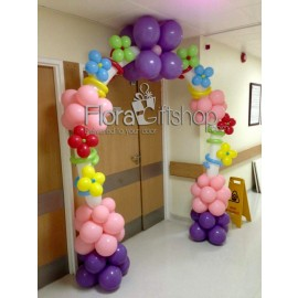 Colorful Bubbles Arch Balloons