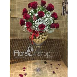 Chocolate Vase Roses