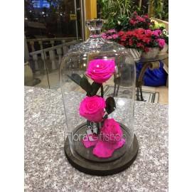 3 Forever Roses - Medium Vase