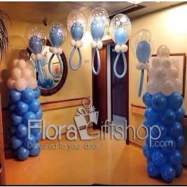 Blue Baby Feeders Balloons