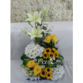 Yellow and White Basket Roses
