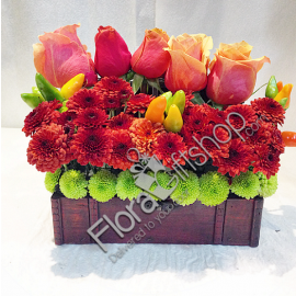 colorful roses in a box 1