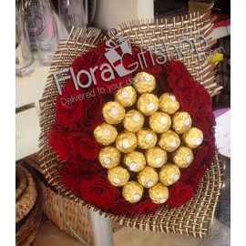 Gold and Red Roses