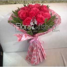 Cute Red Roses Bunch