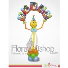 Happy Clown Birthday Balloons