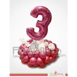 Stylish Crimson Birthday Balloons