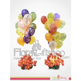 Colored Birthday Balloons