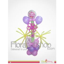 Pinkerple birthday balloons