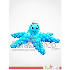 Blue Octopus Birthday Balloons