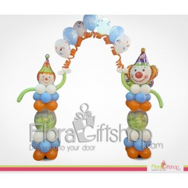 Two Clowns Welcoming You Birthday Balloons
