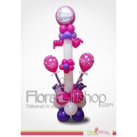 Twisted sides Pinkerple Birthday Balloons