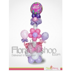 Pink Purl Birthday balloons