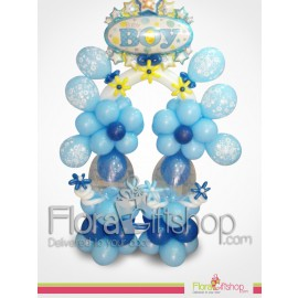 Big Flowers Baby boy balloons