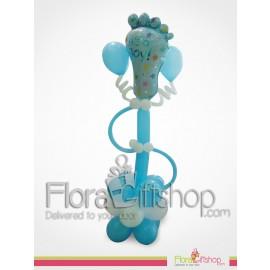 Blue Baby Feet Balloons