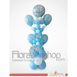 Cute  Blue Flowers Balloons