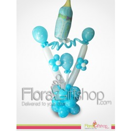 Blue Baby Bottle Balloons