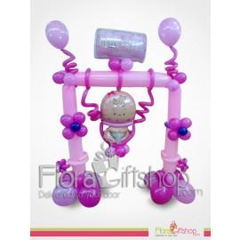 Baby Girl Swing Balloons