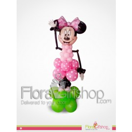 Mini Mouse in Pink Balloons