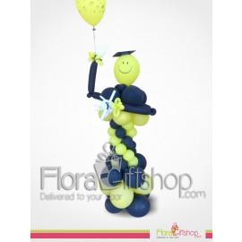 Yellow Man Graduation Balloons