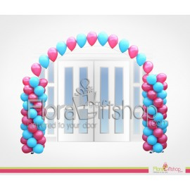 Blue And Pink Entrance Balloons
