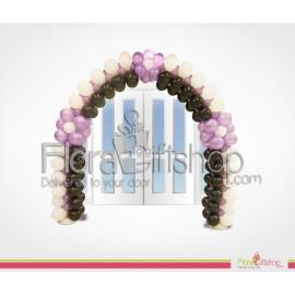 Stylish Purple Flower Balloons