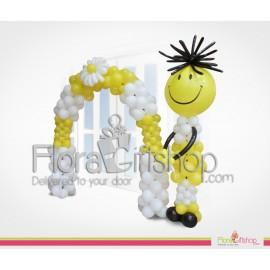 Big Yeallow Smily Face Entrance Balloons