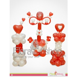 Three Stands of Heart Balloons