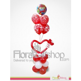 white & Red Love Balloons