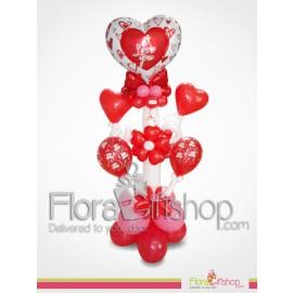 Red Ribbon Love Balloons