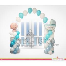 Baby Boy & blue Stroller Door Decorations Balloons