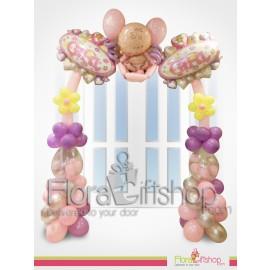 Baby Girl Purple & pink Door Decoration Balloons